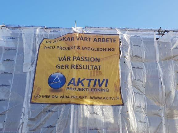 Fasadrenovering på gång