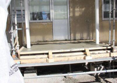 Balkongrenovering - Ny balkongplatta har gjutits